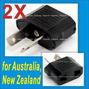 2 pcs X TRAVEL PLUG ADAPTER Converter