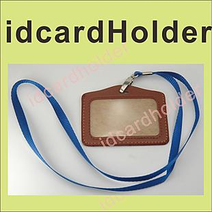 10x ID Card Holder and rope _ brown