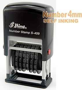 4mm 6band Number Self Inking Stamp