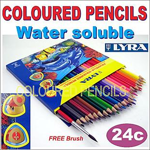 1 x Coloured Pencils 24c (water soluble)