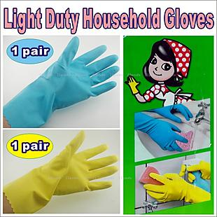 6 pairs Gloves Plastic size-L