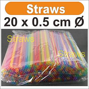 4 packs (about 2000 pcs) _ Straws  _ size:20 x 0.5cm