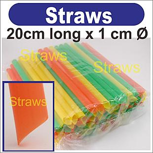 4 packs (about 400 pcs)  Straws _ 20x1cm