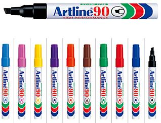 10x Artline EK-90 Mix color