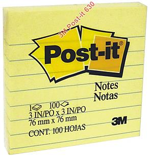 6pads x 3M Post-it Notes Pads_3x4 inch (Blue line)