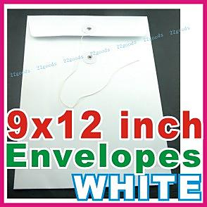 Envelopes_White_9x12_100 pcs